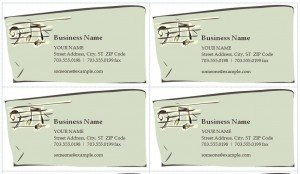 Music Business Cards Template