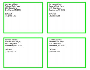 Free New Address Cards