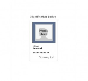 Free Photo ID Badge Template