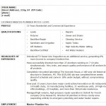 Free Plumber Resume Template