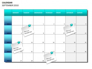 Screenshot of the Project Planning Calendar