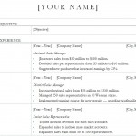 Sales Manager Resume Template screenshot
