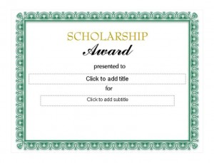 Scholarship Award Template photo