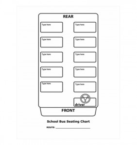 Free School Bus Seating Chart