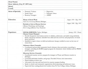 how to create your own resume in open office
