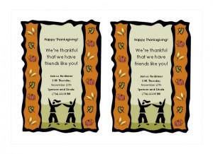 Free Thanksgiving Invitations