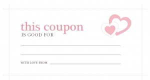 Valentines Day Coupons template
