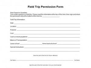 field trip form template