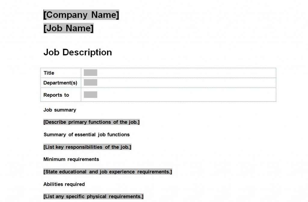 Index of wp content uploads 2013 08 for Template for job description in word