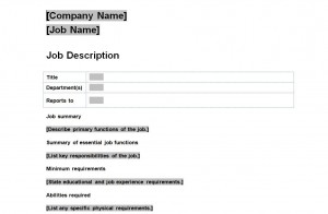 view: JOB DESCRIPTION TEMPLATE
