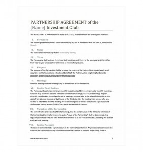 Free Partnership Agreement Template
