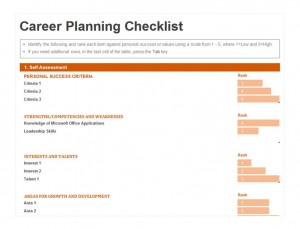 Free Career Planning Checklist