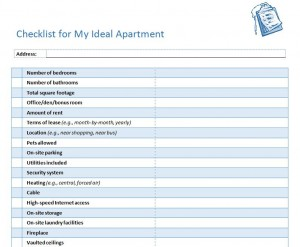 first apartment checklist new apartment checklist