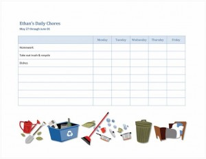 Free Household Chores Checklist