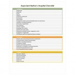 Free Pregnancy Hospital Bag Checklist