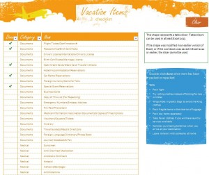 Free Vacation Travel Checklist