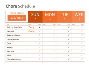 Free Weekly Chore Checklist