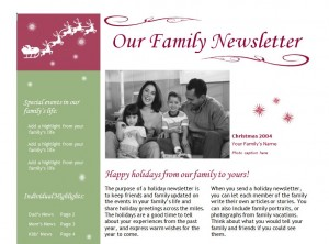 Holiday Newsletter Template Free Holiday Newsletter Templates