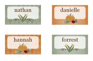 Free Thanksgiving Place Cards