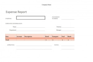 Excel Expense Report Template Free