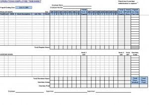 Operations Employee Timecard Free