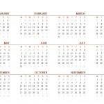 2014 Printable Calendar One Page