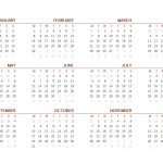 2016 Printable Calendar One Page