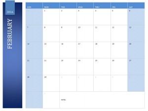 Free February 2016 Calendar