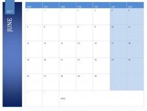 June 2017 Calendar Free