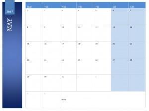 May 2017 Calendar Free