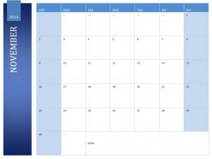 Free November 2014 Calendar