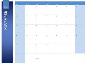 Free November 2016 Calendar