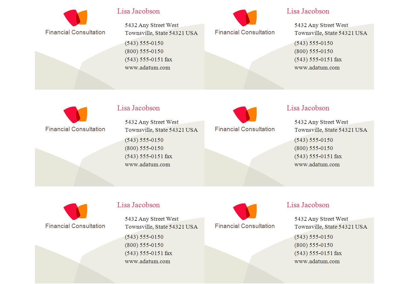 Templates 28878 business cards robertottni templates 28878 business cards flashek Gallery