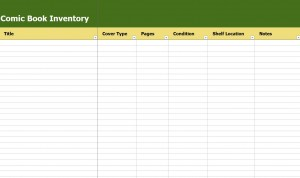 Free Comic Book Inventory Template