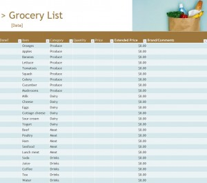 Free Grocery Inventory List
