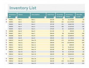 Free Inventory Excel Sheet
