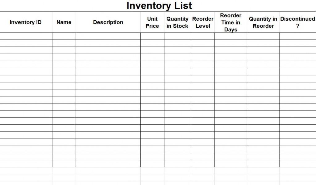 supplies list template thebridgesummitco
