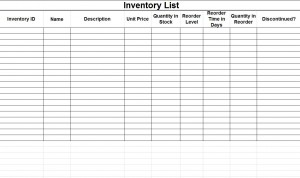 Free Microsoft Inventory Template