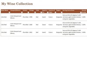 Free Wine Cellar Inventory