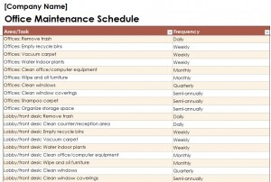 Cleaning Schedule Template For Office. Simple Cleaning Checklist ...