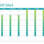 Printable 2014-2015 School Calendar