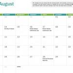 Printable 2014-2015 Academic Calendar