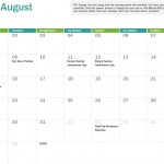 2017 School Calendar Template