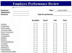 performance review format