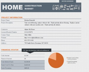 Home Renovation Budget Template Free