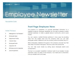 Employee newsletter template employee newsletter for Staff newsletter template