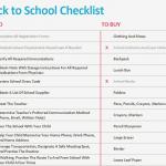 Children's Back to School Checklist