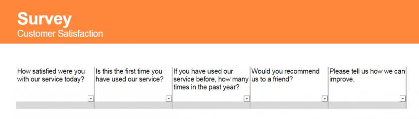 Customer Satisfaction Survey Template