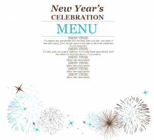 menu new year templates merry christmas and happy new year 2018