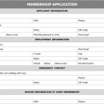 Membership Application Form Template